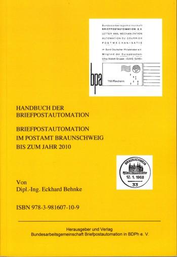 Handbuch Braunscheig - Briefpostautomation im Postamt Braunschweig bis zum Jahr 2010