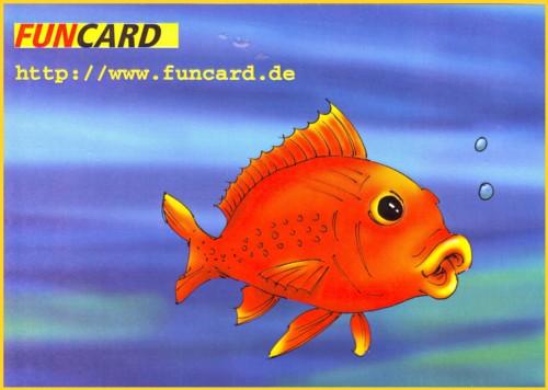 Die Bildseite der Funcard Werbung der Deutschen Post AG
