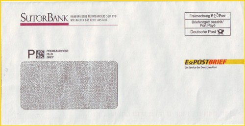 Einer der ersten Hybridbriefe ePost, die nicht von der Deutschen Post AG selbst stammen, wer kennt weitere ?