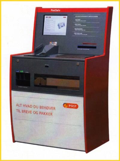 gleicher Automat von der Firma aCON, hier nur für die dänische Post