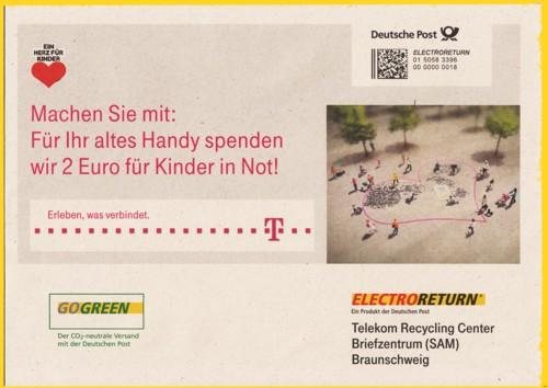 Electroreturn Umschlag der Telekom aus dem Herbst 2011 - Vorderseite