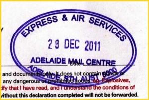 Briefzentrumsstempel aus Australien