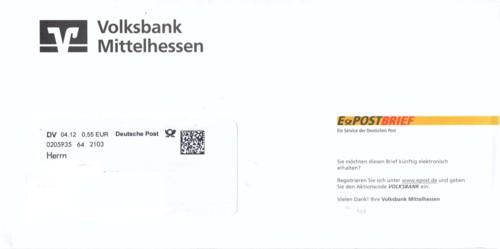 Der zweite bisherbekannte eindeutige Hybridpost-ePostbrief von einer Firma