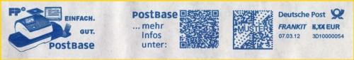 Zweiter Musterabschlag von der CEBIT 2012 mit integrierten QR-Code