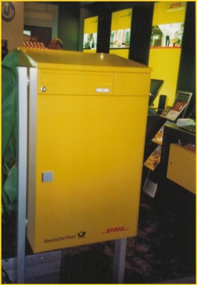 Der moderne Paketkasten mit Funkschloß für den Einzelhaushalt kombiniert mit einem normalen Briefkasten