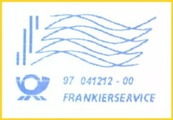 der neue Frankierservice hier vom BZ 97 aus der Frühzeit ohne Firmenwerbung - die zukünftige Standardversion