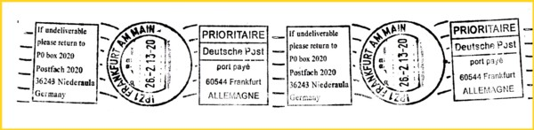 Sehr seltener Handrollstempel Frankierservice aus dem IPZ 1 vom Mailterminal - das Gegenstück zum letzten Mal - hier normalerweise für den Versand an ausländische Empfänger