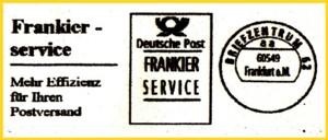 Frankierservice aus dem Mailterminal des IPZ 1 - Conect 3000 + Maschine