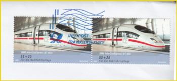 Vorausentwertung mittels des neuen Frankierservice in blau durch die Deutsche Post AG (auch Tintenstrahldruck - ümgerüstete Frankitmaschinen von Neopost)