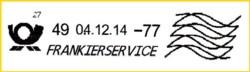 Dies hier ist eher die Standardvariante für die meisten Briefzentren - Zählnummer 1,4 mm ohne führende Nullen