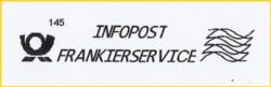 Infopostfrankierservicesendung vom BZ 40 - dies ist aber am Stempelabdruck selbst nicht erkennbar