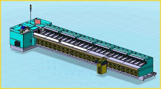 Skizze der Gangfolgesortiermaschine von Solistic - Foto wurde von der Deutschen Post AG freigegeben