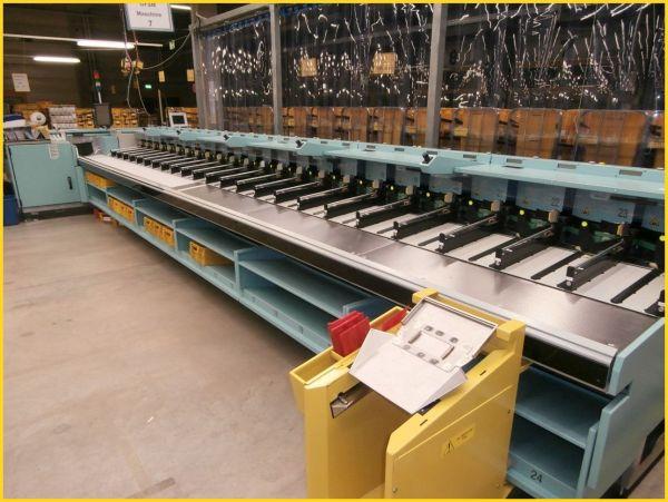 Gangfolgesortiermaschine Mars von der Firma Solistic fotographiert in einem deutschen Briefzentrum - Foto wurde von der Deutschen Post AG freigegeben