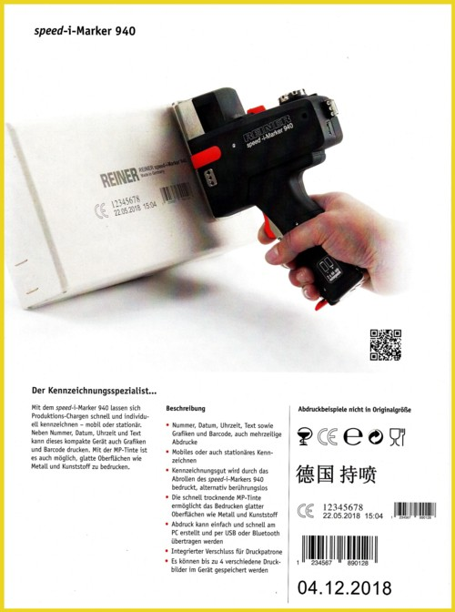 """Das Modell """"speed-i-Marker 940"""" der Firma Reiner GmbH"""