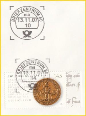 Hier wurde im ersten Anlauf um 10 Uhr keine Briefmarke getroffen, daher wurde die Sendung einige Stunden später im zweiten Durchlauf erneut zum Test geschickt, diesmal wurde die Marke getroffen