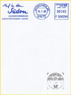 Man sieht an diesem Ausschnitt das das Entwertemodul von Siemens gewisse Anfangsprobleme hatte, nur die Briefmarken zu erkennen und zu stempeln - den wie dieses Beispiel zeigt, gibt es hier keine Briefmarke die entwwertet werden müsste