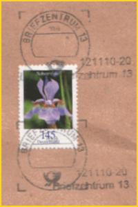 Scan von philaseiten.de mit einer Übergangsvariante vom BZ 13