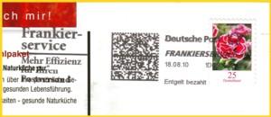 Vorausentwertung einer Infopostsendung mittels Frankierservice