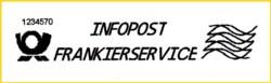 Die Standardvariante für Infopost, allerdings wurde hier vergessen die Grundeinstellung bei der Zählnummer 1234567 zurück zusetzen - es ist daher der 3. Stempelabdruck nach Installation der Software