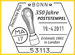 Sonderstempel zum Thema 350 Jahre Poststempel